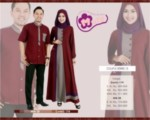 Baju Couple Mutif Burgundy