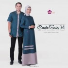 Baju Couple Sarimbit Mutif Hijau Denim